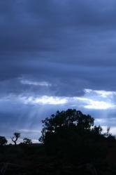 Heavenly sky in Canyonlands National Park, Utah