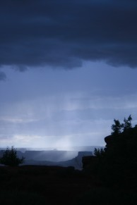 Storm on the mesa in Canyonlands National Park, Utah